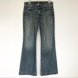 7FAM Dojo Blue Jeans wide leg flare Sz 27